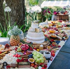 Delicious: The sumptuous spreads are popular at weddings and include a combination of sweet and savoury treats