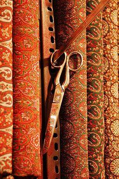 Termeh and scissors