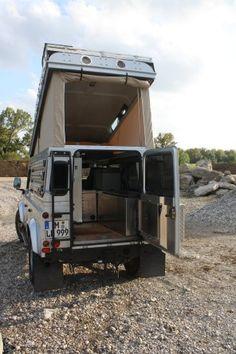 Landrover Defender, Landrover Camper, Defender Camper, Land Rover Defender 110, Truck Camper, Adventure Campers, Off Road Adventure, Mini Caravan, Vw Crafter