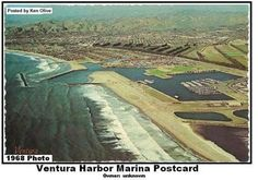 Ventura Harbor Marina Postcard. 1968 photo.