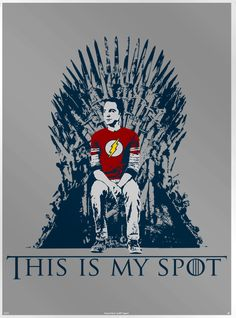 This Big Bang Theory poster from designer Nertee Designs is titled – This Is My Spot. It features Sheldon from The Big Bang Theory sitting o...