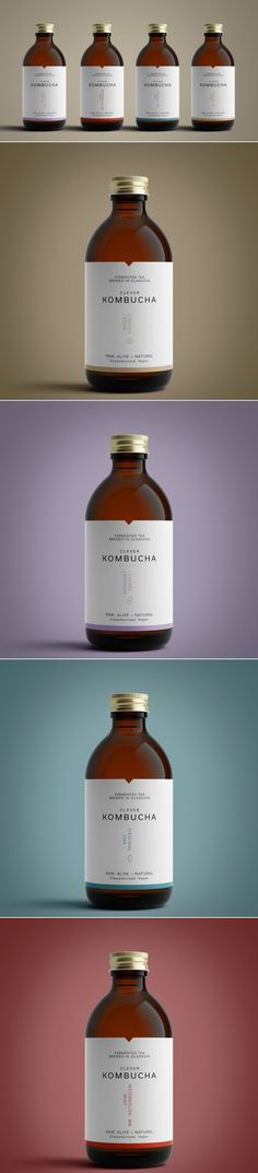 Clever Kombucha Stands Out With Minimalistic Labels — The Dieline | Packaging & Branding Design & Innovation News