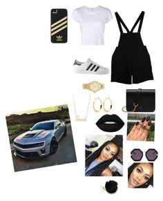 """Just making more money"" by imayababy ❤ liked on Polyvore featuring American Apparel, RE/DONE, adidas, Mulberry, Michael Kors, Sydney Evan, Lime Crime and Karen Walker"