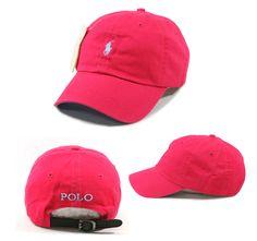 Women's Polo Baseball Cap | Small Logo Polo Men Women Baseball Golf Cap Sports Hat Deep Pink Color