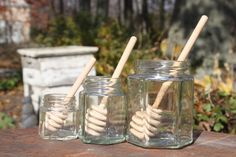 Wooden Honey Dipper by KlineHoneyBeeFarm on Etsy, $1.25