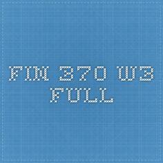 FIN 370 W3 Full