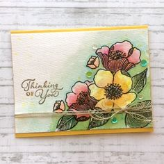Winsor And Newton Watercolor, Altenew Cards, White Gel Pen, April Showers, Happy Tuesday, Gel Pens, Happy Thoughts, Twine, Stampin Up