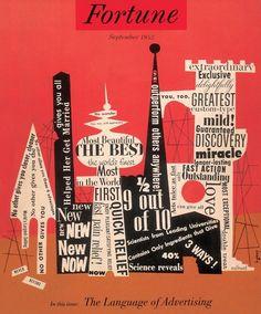 the language of advertising, fortune magazine, 1952