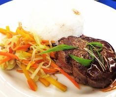 Rare Beef medallion Teriyaki Sauce #travelfoodblog @marcopolocebu #beef #food #cebu #rice #ig #igers #igerscebu Beef Medallions, Teriyaki Sauce, Cebu, Steak, Rice, Food, Women's Side Tattoos, Meals, Laughter