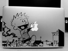 Calvin & Hobbes Macbook Vinyl Decal