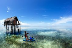 Bajau People Living Right on the Water in Semporna, Sabah, Malaysia