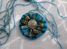 Textile brooch by MagicThreadByNatalia on Etsy