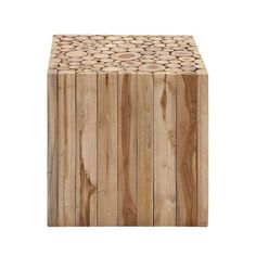 Wood-n't it be nice to have a cool stool like this in your home? This amazing piece showcases the beautifully natural look of teak woodgrain. It's perfect for your rustic-modern motif, but it's clean l...  Find the Knock on Wood Stool, as seen in the The Great Indoors  Collection at http://dotandbo.com/collections/2015-trends-the-great-indoors?utm_source=pinterest&utm_medium=organic&db_sku=92248