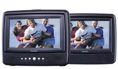 Axion AXN-7979 7-Inch Dual Screen Portable DVD Player, Black by Axion. $79.99. From the Manufacturer                 AXN-7979 7-inch dual screen portable DVD player AXN-7979 7-inch dual screen portable DVD player features two 7-inch widescreen LCD display that let you play music and movie while on the road. It includes an AV jack for a Camcorder and Game console connection, two Hi-fi stereo headphone jacks for private listening, DIN cables for connecting monitors and m...