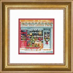 Jim Mitchell, The Old Days, Counted Cross Stitch Kits, Cute Designs, Needlepoint, Vintage Christmas, Old Things, Embroidery, Gift Wrapping