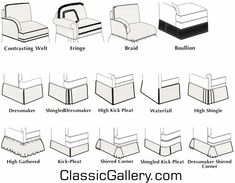 sofa arm types - Google Search | furniture descriptions and charts ...