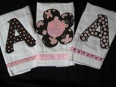 personalized boutique burp cloths set of by christopherjoseph, $18.00