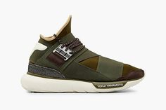 #adidas Y-3 Qasa High in Khaki #sneakers