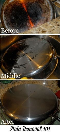Scrub the burnt bottoms of your pans with Bar Keeper's Friend to make them look…