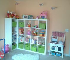 Ikea Expedit Playroom Organization. Pinterest Inspired. Mama Bliss.
