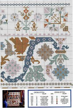 Cross Stitch Borders, Cross Stitch Samplers, Cross Stitch Designs, Cross Stitching, Cross Stitch Patterns, Embroidery Sampler, Cross Stitch Embroidery, Hand Embroidery, Cross Stitch Collection