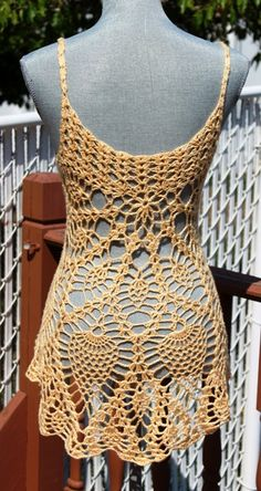 Beach Dress / Crochet Cotton Cover Up Made to Order by DearAlina