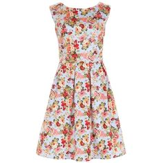 Sugarhill Boutique Hatty Floral Dress, Multi (1,085 MXN) ❤ liked on Polyvore featuring dresses, sleeve maxi dress, floral midi dress, flare dress, floral print maxi dress and floral mini dress