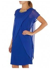 Isabel de Villiers | Mesh Drape Combo Dress Cobalt