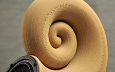 First 3D printed wooden Spirula speakers, model available for free download