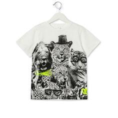 White Arlo Jungle Print t Shirt - Stella Mccartney Kids