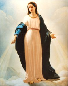 The Virgin Mary appears in Rome, in the church of Sant'Andrea delle Fratte, January 20, 1842, to the Jewish-French banker Alphonse Ratisbonne. Picture by Natale Carta, painted a few months after the apparition