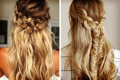 Peinado de novia de pelo suelto con trenza #bodas #ElBlogdeMaríaJosé #PeinadoNovia #PeinadoNoviaPeloSuelto #PeinadoNoviaTrenza Wedding Mood Board, Braids, Make Up, Long Hair Styles, Beauty, Blog, Hairstyles, Weddings, Closet