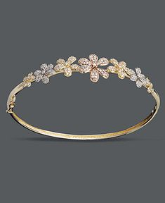 Diamond Flower Bangle :)