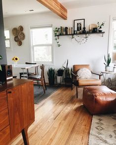 was feelin like a little change in our house, swapped some things out & boom! My Living Room, Home And Living, Living Spaces, Interior Decorating, Interior Design, Interior Plants, Boho Home, Dream Decor, House Rooms