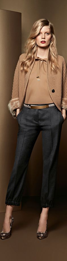 LIKE THIS FOR WORK, BUT LONG PANTS...Escada Fall 2013 RTW♥✤ | Keep Smiling | BeStayBeautiful