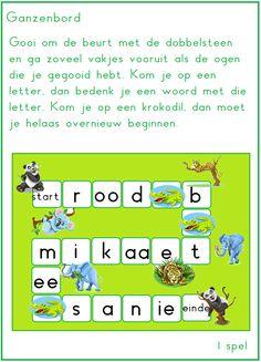 Letterganzenbord bij thema 2 van Lijn 3