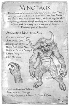 This gallery is a compilation of the images of Demons that appear in the Summoner Series. Mythical Creatures Art, Mythological Creatures, Magical Creatures, Mythological Monsters, Myths & Monsters, Monster Book Of Monsters, Fantasy Beasts, Fantasy Art, Legends And Myths