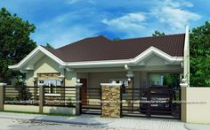 Pinoy House Plans Series 2015014 is a 4-bedroom bungalow house which can be built in …