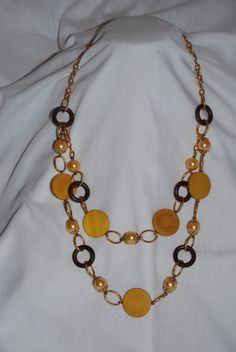 Brown yellow on pinterest yellow and brown yellow and for Mustard colored costume jewelry