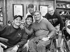 Colin Edwards, Kenny Roberts, Wayne Rainey, Kevin Schwantz and Valentino Rossi. - Laguna Seca 2013