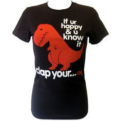 Goodie Two Sleeves Sad T-Rex T-Shirt | Gothic Clothing | Emo clothing | Alternative clothing | Punk clothing - Chaotic Clothing (20) found on Polyvore [follow link to polyvore for link to chaoticclothing.co.uk This is a fun tee isn't it? LOL! :) Mo
