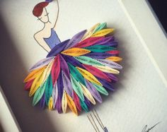 """Quilled Paper Art: """"I wanna dance with somebody!"""" Quilled Paper Art: I wanna dance . Arte Quilling, Paper Quilling Patterns, Quilled Paper Art, Quilling Paper Craft, Paper Crafting, Quilling Ideas, Diy And Crafts, Arts And Crafts, Quilled Creations"""