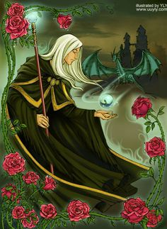 Raistlin and the rose by uuyly on DeviantArt // This kind of makes me happy ♡