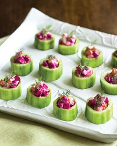 Cucumber Cups with Roasted Beets and Yogurt Dressing