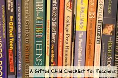 Gifted child checklist for teachers and parents
