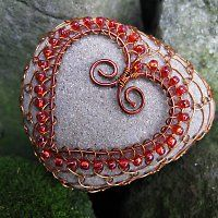 wire lace and stone