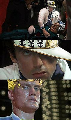 Fun fact: Araki based Jonathan off Stallone and Dio off of Schwarzenegger