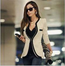 Női hosszú ujjú alkalmi Egy gomb Slim OL Top Jacket Blazer Suit felsőruházati Kabát