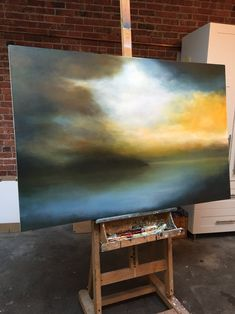From the studio of Sharon Kingston. 36x60. Oil on canvas.
