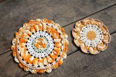 Vintage Crocheted Potholders Set of 2 by forgottenPLUM on Etsy, $8.00